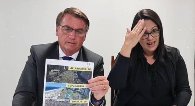 """Bolsonaro: """"Gostaria de ter uma fotografia para o mundo"""""""