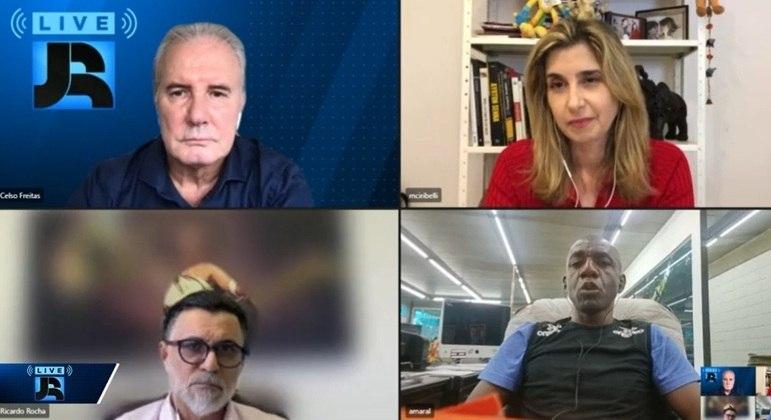 Celso Freitas e Mylena Ciribelli conversaram com Ricardo Rocha e Amaral