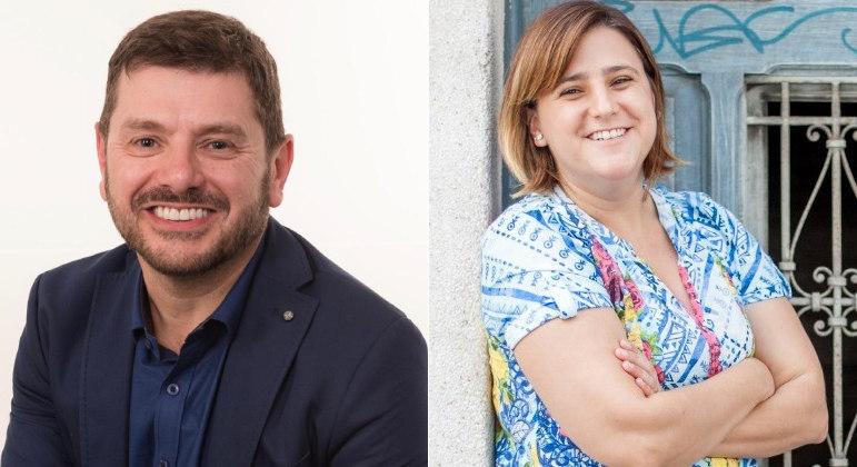 Renato Casagrande e Daniela Caldeirinha, diretora da Fundação Lemann