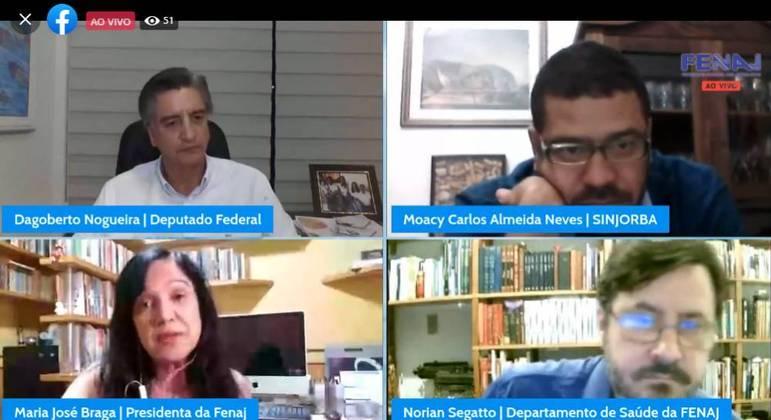 Live promovida pela Fenaj discutiu a necessidade de incluir os jornalistas nos grupos prioritários de vacinação