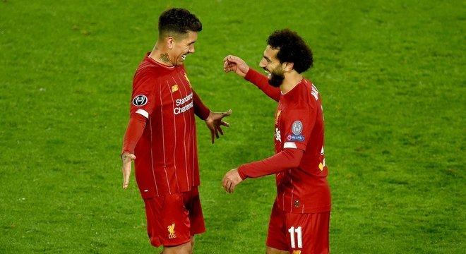 Firmino e Salah, do Liverpool