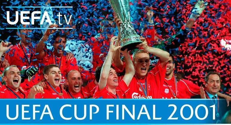 O Liverpool, três vezes o campeão da UEFA/Liga Europa