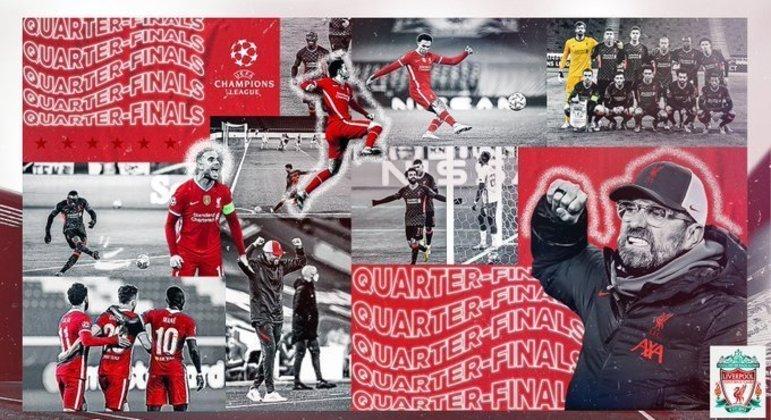 Na capa do Twitter do Liverpool, a euforia do treinador Juergen Klopp