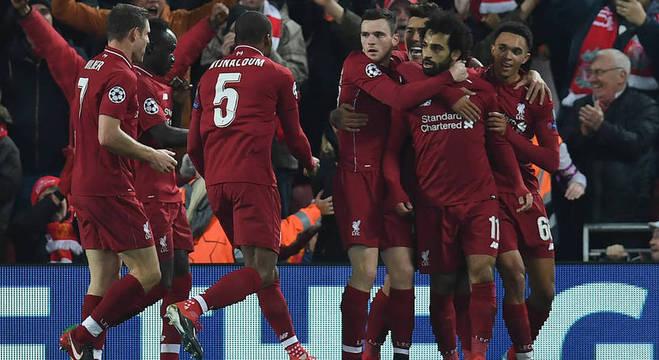 Liverpool, a celebração da passagem às oitavas