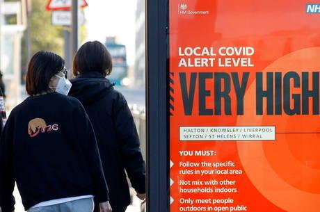 Liverpool decretou alerta máximo por aumento de casos