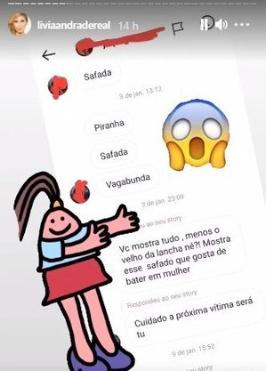 Mensagens enviadas à Lívia Andrade