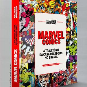 O livro sobre a Marvel no Brasil
