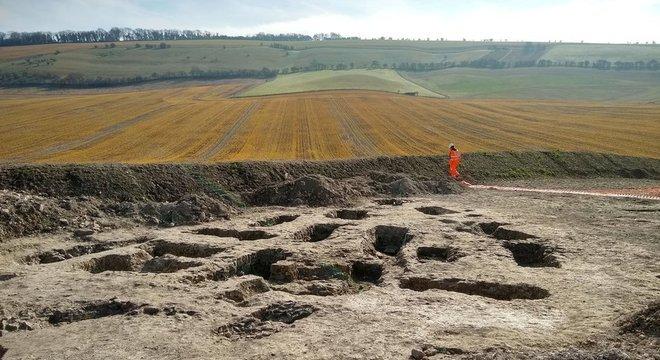 O local escavado agora pode ser usado para instalação de tubulação de água