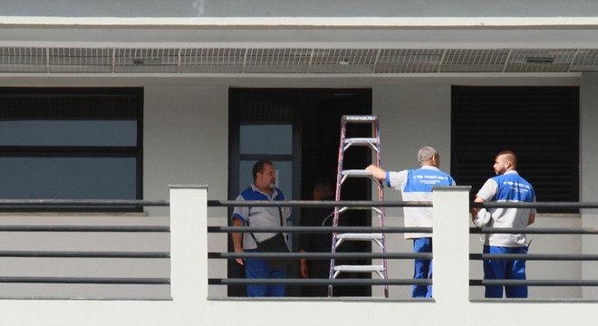 Entrada do local onde Temer é mantido preso na Superintendência da PF no Rio