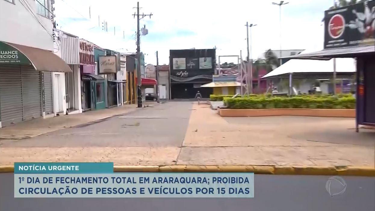 Araraquara Decreta Lockdown Apos Nova Cepa Da Covid 19 Recordtv Interior Sp R7 Balanco Geral