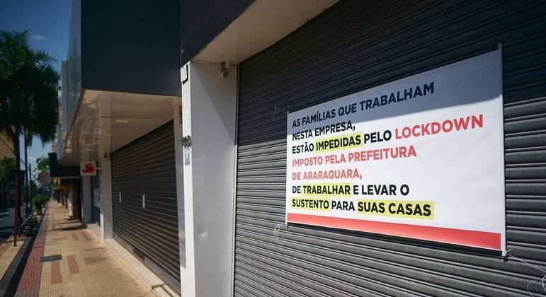 Araraquara foi uma das cidades do interior de São Paulo que adotou lockdown