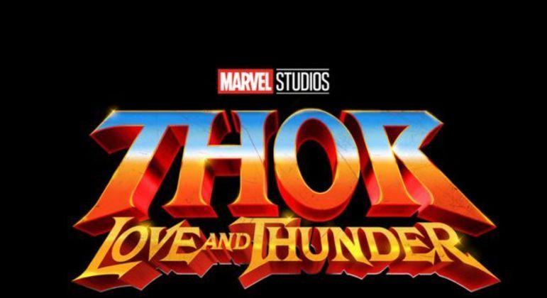 Logo divulgado pela Marvel de 'Thor: Amor e Trovão' em inglês