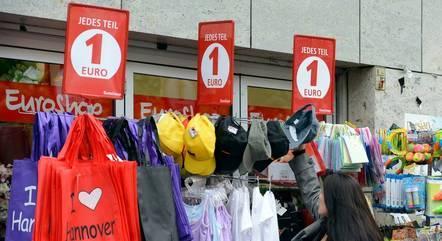Lojas alemãs ficaram fechadas no fim do ano