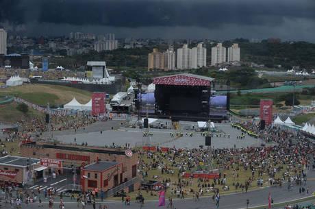 Forte chuva interrompeu shows em Interlagos