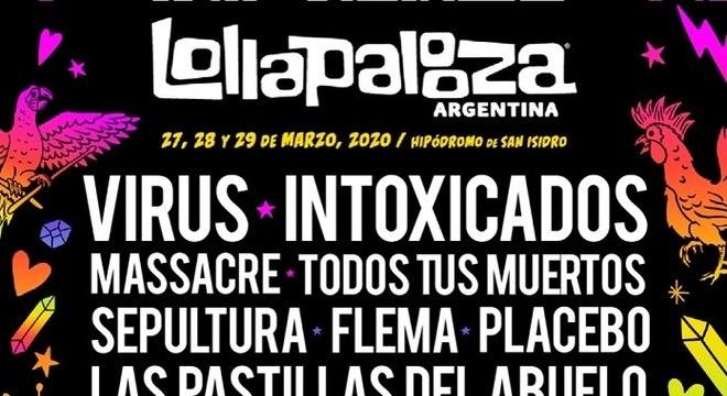 Coronavírus: Lollapalooza Argentina ganha line-up falso cheio de graça