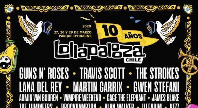 Lollapalooza Chile 2020 - Line-up