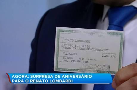 Fabíola Reipert apresentou um RG falso de Lombardi