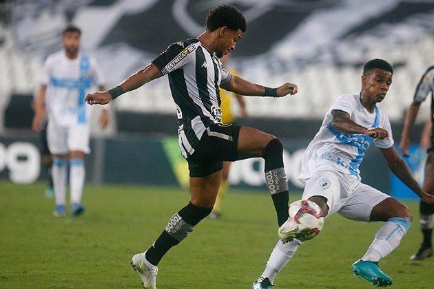 Londrina - Sobe: Fez marcação alta no primeiro tempo e travou algumas jogadas de ataque do Botafogo. / Desce: Perdeu um jogador por expulsão nos primeiros 15 minutos e não levou perigo à meta de Diego Loureiro.