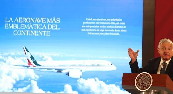 Presidente mexicano López-Obrador busca saídas para vender avião