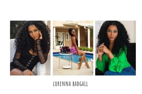 Lorenna Badgall, 21, tem sua própria linha de produtos para cabelo