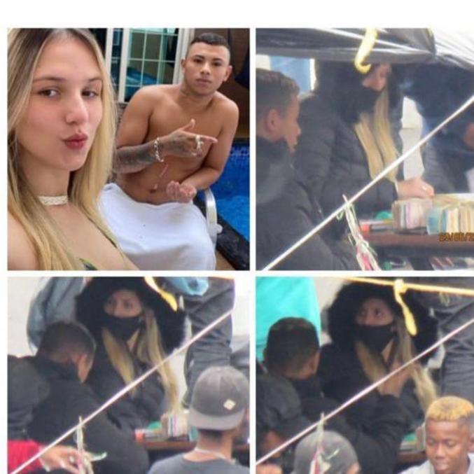 Lorraine ao lado do namorado, André, é flagrada vendendo drogas na Cracolândia