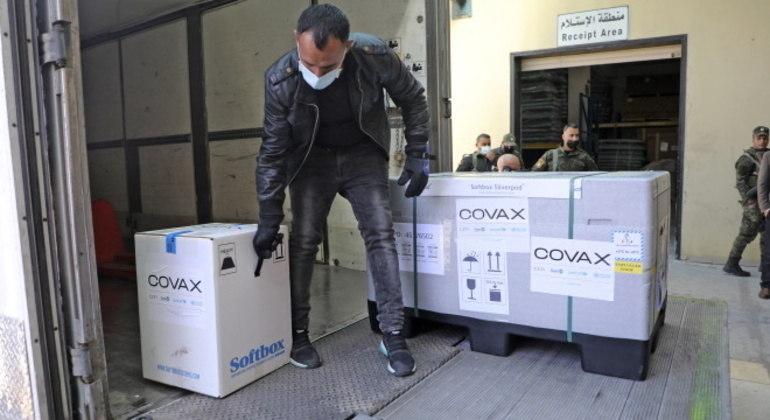 Vacinas fornecidas pela iniciativa internacional Covax