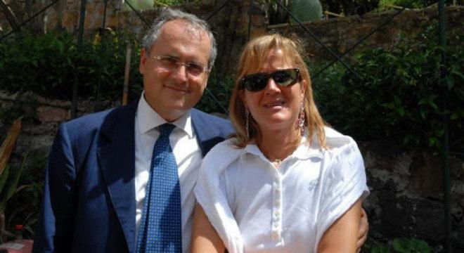 Claudio Lotito e Cristina Mezzaroma