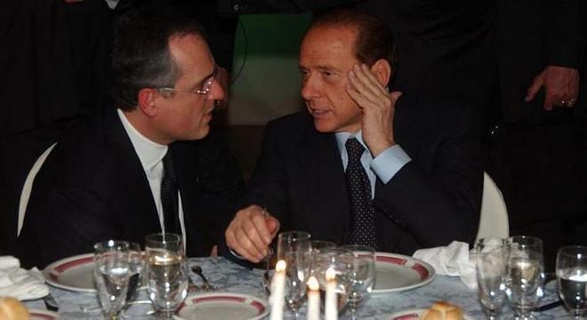 Claudio Lotito e Silvio Berlusconi