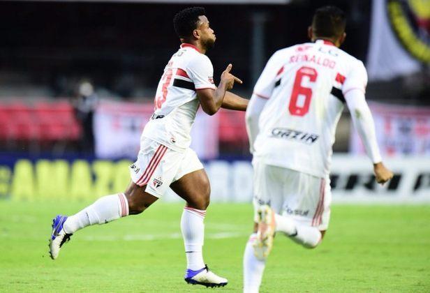 Luan - 1 gol: marcou o primeiro do Tricolor na vitória sobre o Palmeiras por 2 a 0, no segundo jogo da final do Paulistão.