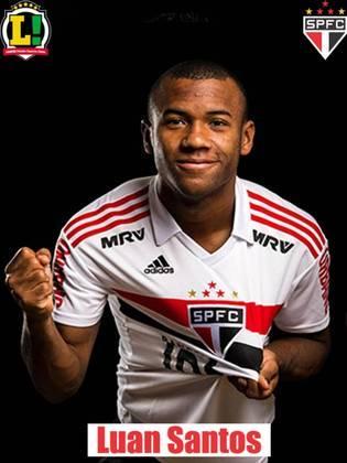 Luan - 7,0 - Autor do gol do São Paulo após aproveitar o rebote, Luan fez um bom jogo. Importante no meio de campo, o volante não teve medo de arriscar e pisar na área para abrir o placar.