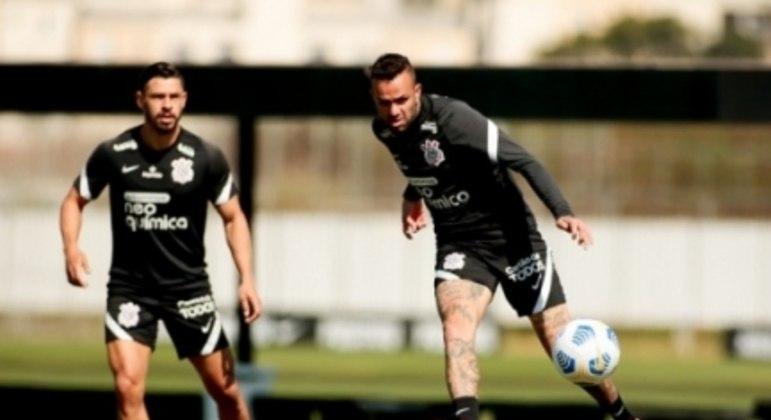 Luan e Giuliano - Treino Corinthians