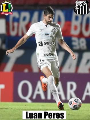 Luan Peres - 6,0 - Não teve trabalho com os atacantes do Cianorte e participou da jogada do primeiro gol do Santos.