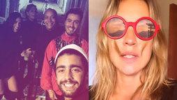 Pedro Scooby curte noitada com amigos, e Luana Piovani organiza a casa nova