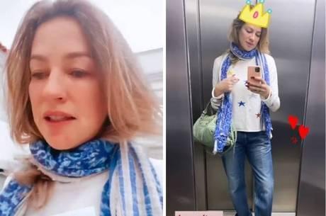 Luana Piovani usou as roupas do novo affair