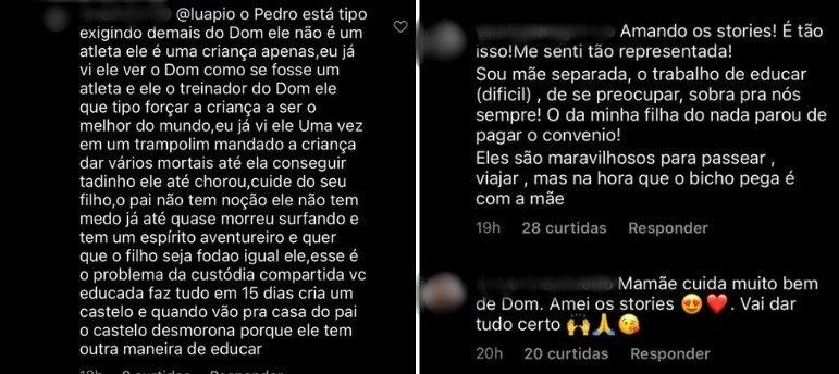 Luana Piovani recebe apoio de fãs após criticar atitude de Pedro Scooby