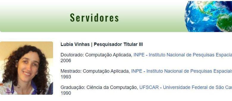 Lúbia Vinhas é pesquisadora do INPE