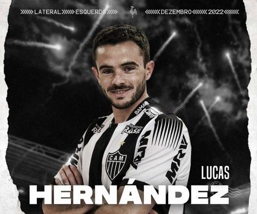 Lucas Hernandez - Atlético Mineiro - 27 anos - lateral-esquerdo - uruguaio