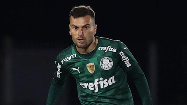 Lucas Lima - Clube: Palmeiras - Posição: Meia - Idade: 30 anos - Jogos completados no Brasileirão 2021: 0 jogos - Situação no clube: Reserva com poucas oportunidades