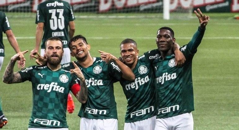 Lucas Lima fez um grande jogo e comemorou bastante o gol marcado