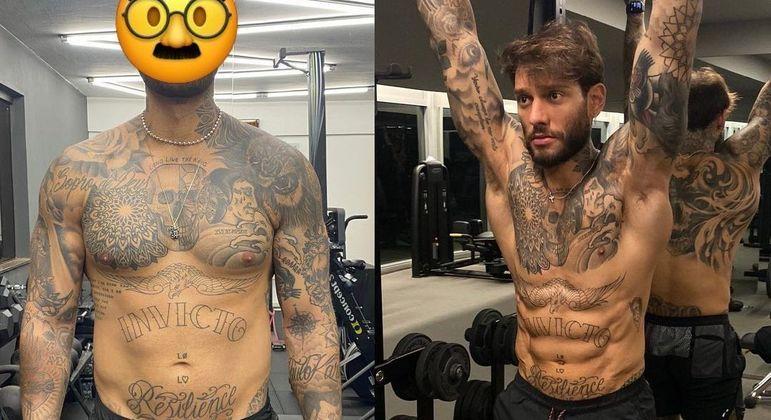 Lucas Lucco exibe antes e depois do corpo com 9% de gordura