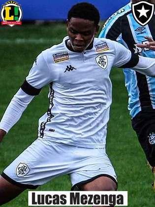 LUCAS MEZENGA - 4,5 - Além de enrolar-se com Kanu no primeiro gol do Botafogo, chegou atrasado no combate a Edu e permitiu a virada do Brusque.