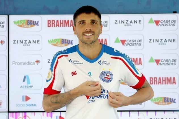 Lucas Mugni - Clube atual: Bahia - Clube anterior: Gençlerbirligi (Turquia) - Posição: Meia - Idade: 29 anos