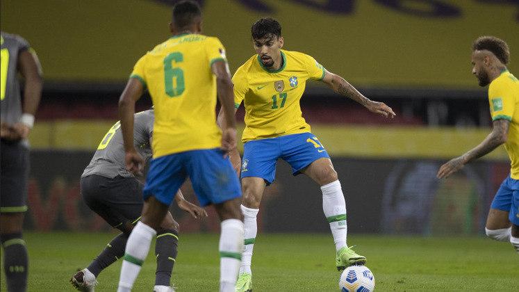 LUCAS PAQUETÁ (M, Lyon) - Ganhou mais fôlego devido às suas atuações nas vitórias do Brasil neste mês e tende a ser requisitado em mais duas partidas.
