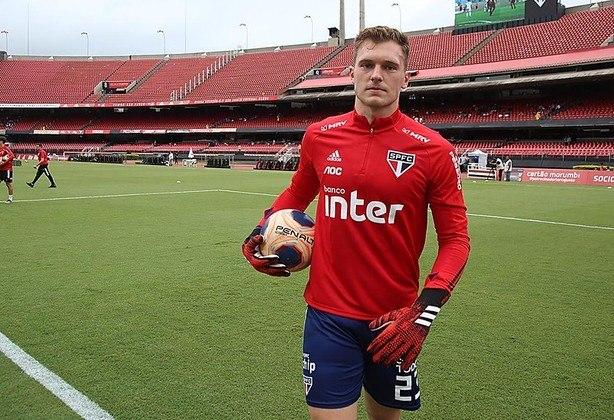 Lucas Perri: goleiro do São Paulo, 22 anos, contrato até janeiro de 2023. Foi emprestado ao Crystal Palace, da Inglaterra, em 2019