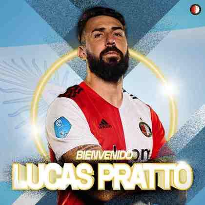 Lucas Pratto - Atacante - 32 anos - Feyenoord - Pratto foi cedido por empréstimo ao Feyenoord na esperança de evoluir na carreira, mas quase não entra em campo e já manifestou o desejo de voltar a atuar na América do Sul.