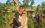 Lucas Praxedes e a noiva, Maria Julia Paiva