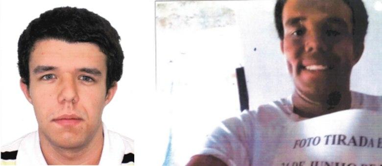 À esquerda, foto do banco de dados da PF e, à direita, foto tirada pelo candidato