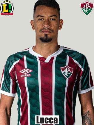 LUCCA - 4,0 - Atabalhoado, não conseguiu dar prosseguimento a jogadas do Fluminense devido a erros de passes e hesitações nas suas decisões.