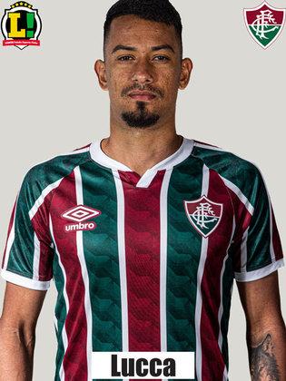 LUCCA - 5,5 - Entrou na reta final e não chegou a contribuir para que o Fluminense ampliasse o marcador.
