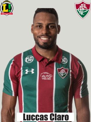 Luccas Claro - 7,5 - Importante defensivamente, o zagueiro fez o gol de empate do Fluminense com um ótimo posicionamento no escanteio. Ótima partida.